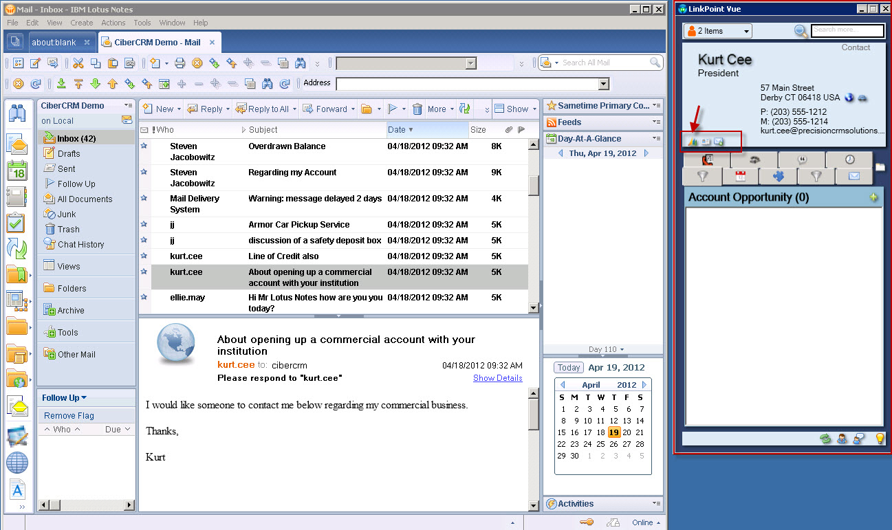 lotus notes customers can use microsoft crm also cxrm